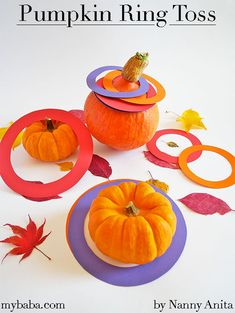 This pumpkin ring toss is a fun game for all the family, that when finished with, you can still eat the pumpkin and not feel like you've wasted food. Fun Games, Fun Activities, Biggest Pumpkin, Ring Toss, Sensory Play, Tossed, Halloween Crafts, Fun Things, Card Stock