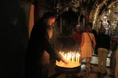 Inside the Church of the Holy Sepulchre - walking the Via Dolorosa in Jerusalem's Old City #holyland