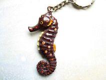 Seepferdchen, Vintage Schlüsselanhänger