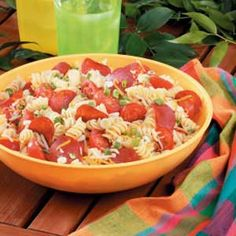 Makeover Pizza Pasta Salad- This is my absolute favorite pasta salad recipe! It is a summertime staple in our house.
