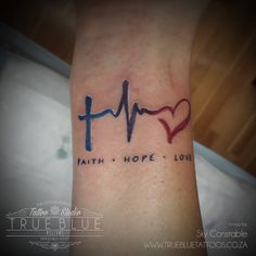"""""""Faith Hope & Love""""by guest artist Sky Constable of True Blue Professional Tattoo Studio"""