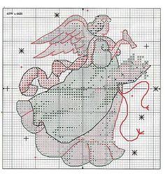 Angel Ornaments - 8/13 Solo Patrones Punto Cruz (pág. 371) | Aprender manualidades es facilisimo.com