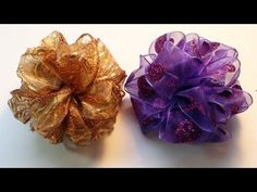 DIY: How To Make an Easy Pom Pom Ribbon Bow - YouTube
