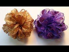 DIY: How To Make an Easy Pom Pom Ribbon Bow - YouTube