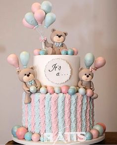Baby reveal themes children 54 Ideas for 2019 Torta Baby Shower, Baby Shower Pasta, Idee Baby Shower, Baby Shower Cupcakes, Unisex Baby Shower Cakes, Gender Reveal Party Decorations, Baby Gender Reveal Party, Baby Party, Baby Shower Parties