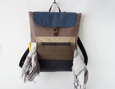Unisex, choco brown canvas backpack / Laptop bag / diaper bag / Front zipper pocket, Design by BagyBags Diaper Backpack, Laptop Backpack, Diaper Bag, Brown Canvas, Blue Canvas, Stylish Backpacks, Market Bag, Canvas Backpack, School Bags