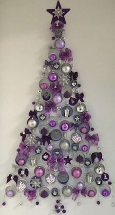 In order to have the perfect Christmas, do you consider decorating the wall? Check out these Amazing and within budget DIY Christmas wall tree decoration ideas… Wall Christmas Tree, Unique Christmas Trees, Alternative Christmas Tree, Christmas Door Decorations, Office Christmas, Noel Christmas, Xmas Tree, Cardboard Christmas Tree, Christmas Tables