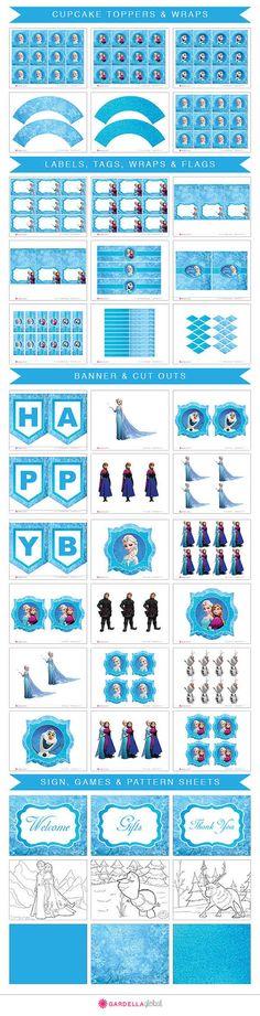 Frozen Invitation Ice Queen Birthday Invitation by GardellaGlobal