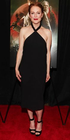 Julianne Moore's Red Carpet Style - In Balenciaga, 2015 from InStyle.com
