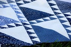 Blue and white quilt. Beautiful!