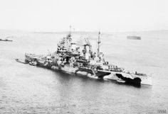 14 in King George V class battleship HMS Prince of Wales, pictured in August 1941 when she took Prime Minister Churchill to meet President Roosevelt, having survived combat with German battleship Bismarck in May.  Japanese aircraft sank her off Malaya on 10 December that year, together with battlecruiser Repulse.