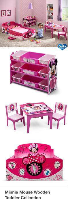 Sweet, stylish and a lover of all things polka dot, Minnie Mouse spends her free time dancing, singing and hanging out with her lifelong sweetheart, Mickey. Help bring her cheerful spirit to your little girl's room with this item from Delta Children's colorful collection of Minnie Mouse kids' furniture.