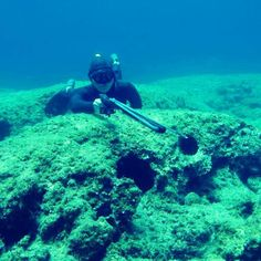 Girl hunting! #greece #crete #spearo #spearfishing #freediving