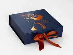 Navy Blue Luxury Gift Boxes and Wholesale Gift Packaging - FoldaBox USA Custom Printed Boxes, Custom Gift Boxes, Customized Gifts, Wedding Keepsake Boxes, Wedding Keepsakes, Gift Packaging, Packaging Design, Packaging Boxes, Luxury Packaging