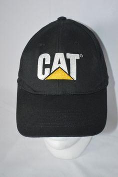 CAT Black Yellow Licensed Merchandise Caterpillar INC. One Size Adjustable  Hat  CAT  BaseballCap 3ab4e180bb27