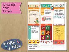 Printable Erin Condren planner sticker kit for by TheGiftedPepper