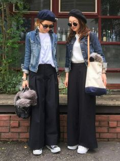 Style Hijab Outfit Casual Ideas For 2019 Denim Fashion, Look Fashion, Korean Fashion, Trendy Fashion, Winter Fashion, Womens Fashion, Fashion Trends, Skirt Fashion, Asian Street Style