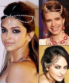 6 Stylish Hair Accessories For Brides To Glam Up Their Wedding Day Look - Bridal accessories - Wedding Headband, Bridal Hair Pins, Simple Bridal Makeup, Indian Bridal Makeup, Indian Hairstyles, Bride Hairstyles, Mehndi, Indian Headpiece, Wedding Day Makeup