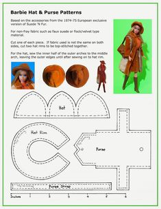 Barbie hat and purse tutorial from Nuria Nurusa - Google+