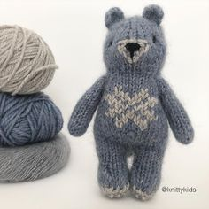 """Gudrun Dahle on Instagram: """"💙🐻 Has this knitty kid has been eating blueberries? 💙 Did you know a bear can eat 30,000 berries a DAY!? Swipe to read more about bears. 🐻💙…"""""""