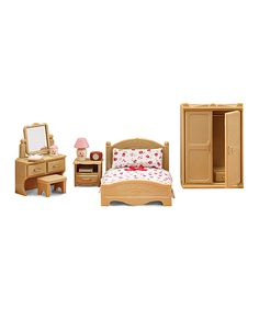 Another great find on #zulily! Parents' Bedroom Play Set by Calico Critters #zulilyfinds