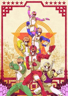 Dairangers (Roughly Power Rangers Season 2 though the main 5 costumes were never used)
