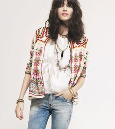 Lovely quilted jacket. Love the Mexican influence/boho funkiness of this jacket
