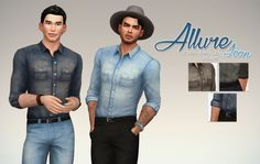 Denim Allure Shirt by Rope at Simsontherope