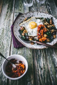 Izy Hossack's Chard Hash with Red Pepper Salsa | west elm