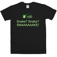 """""""Snake? Snake? SNAAAAAAKE!"""" t-shirt £14.99"""