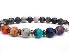 Eight Chakra bracelet, Soul Star Chakra, Yoga and Meditation bracelet, Seat of the Soul Chakra, Buddhist bracelet