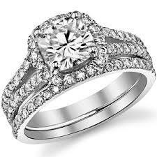 wedding band for split shank engagement ring - Google Search