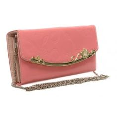 Peňaženka lakovaná s retiazkou Ronie, ružová 14963