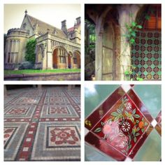 Mosaic Monday: Our good friend Nancy spotted these tiles in Tyntensfield, a Victorian Gothic Revival estate in England. These hand made beauties are a great theme for the summer season. Make Beauty, Glass Mosaic Tiles, Victorian Gothic, Porcelain Tile, Vancouver, England, Ceramics, Stone, Interior Design