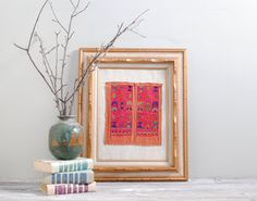 Hand Embroidered Vintage Textile from Northern by LittleDogVintage, $72.00