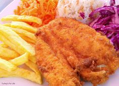 Chicken Schnitzel At Lukka In Çalış, #Fethiye Visit our post to find out how to make your own chicken schnitzel at home. :)