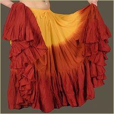 Belly dance skirt tiedinyarn