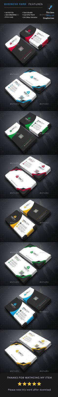 Corporate Business Card Bundle — Photoshop PSD #designer #landscape • Available here → https://graphicriver.net/item/corporate-business-card-bundle/15488040?ref=pxcr