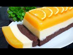 Fantastická torta 3 FARBY, pripravená bez pečenia a bez želatíny: Na tomto recepte fičíme celý rok, tak je vynikajúci! Toffee Bars, Smoothie, Orange Recipes, Pudding Recipes, Puddings, Tart, Cheesecake, Peach, Desserts