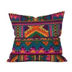 Grab our cool, vibrant, Mayan inspired 16x16 throw pillow to rehab and refresh any existing pillow or pillow insert. Toss on any sofa, chair or lounge that's crying for a major color and pattern lift. ... Find the Vibrant Mayan Pillow, as seen in the The New Bohemian Collection at http://dotandbo.com/collections/the-new-bohemian?utm_source=pinterest&utm_medium=organic&db_sku=105442