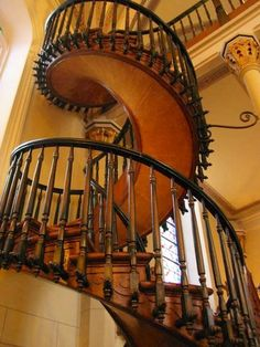 The mysterious n beautiful, masterfully crafted, 1 of a kind spiral staircase in Laretto Church