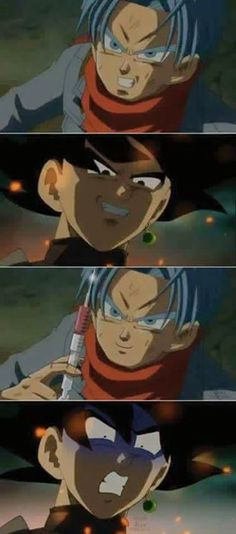 The ONLY blue-haired Future Trunks pic because it's hilarious