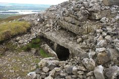 Carrowkeel Neolithic Passage Tomb Complex overlooking Lough Arrow. Every one of these mountain top tombs faces Knocknarea in Sligo.