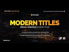 Modern Promo Titles Pack for FCPX  | AF Templates | videohive