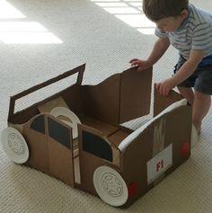 Cardboard Box Car   vi Craftulate