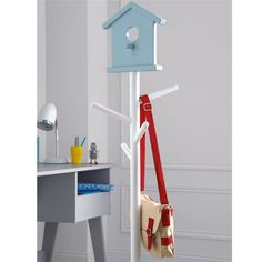 Porte manteau nichoir pour enfants Pileci La Redoute Interieurs (Rose/blanc)
