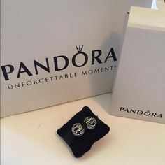 Two sterling silver Pandora charms Brand new! Dark oxidized finish Pandora Jewelry Bracelets