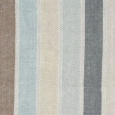 Vanessa Arbuthnott linen fabric: Scandi stripe -cool What a shame that it is dry clean only!