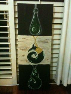 Maori Taonga, oil on canvas