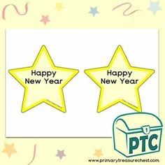 New Year Teaching Resources - Primary Treasure Chest New Years Activities, Teaching Activities, Craft Activities, Teaching Resources, Teaching Ideas, Star Template, Templates, Ourselves Topic, Crafts For Kids